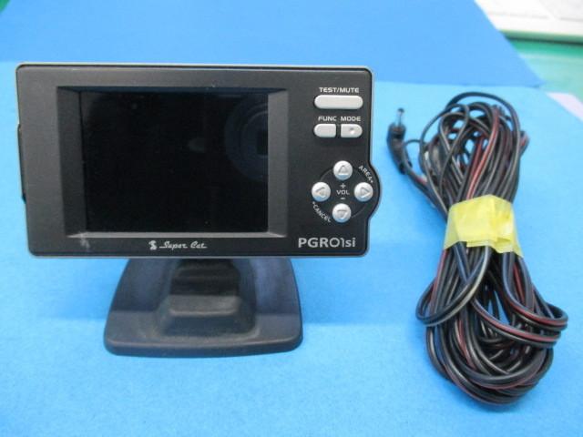 ユピテル Super Cat GPSレーダー探知機【 PGRO1si 】2.2型IPS オールイン ワンボディ Yupiteru スーパーキャット SDカード欠品 中古品_画像1