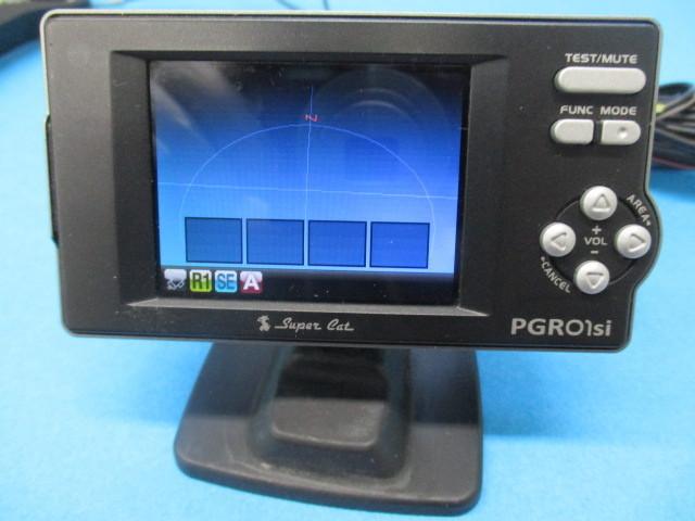 ユピテル Super Cat GPSレーダー探知機【 PGRO1si 】2.2型IPS オールイン ワンボディ Yupiteru スーパーキャット SDカード欠品 中古品_画像2