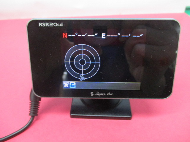 ユピテル GPSレーダー探知機 Super Cat 【 RSR20sd 】2.4型液晶 VPS 2Dロードイメージマップ リモコン欠品 SDカード付 中古_画像3