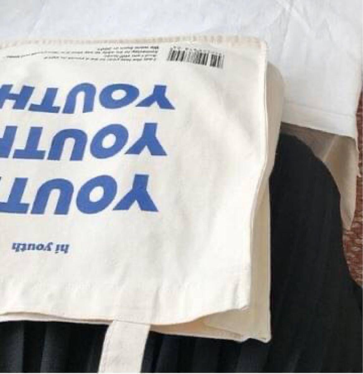 キャンバストートバッグ トートバッグ スクエア 英字 ロゴ 肩掛け キャンバス レジバッグ エコバッグ メンズ レデース 大容量