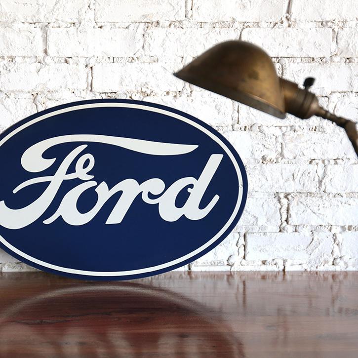 アドバタイジング advertising ホーロー 看板 サイン フォード オーバル FORD OVAL アイアン 鉄 ガレージ 世田谷ベース_画像1