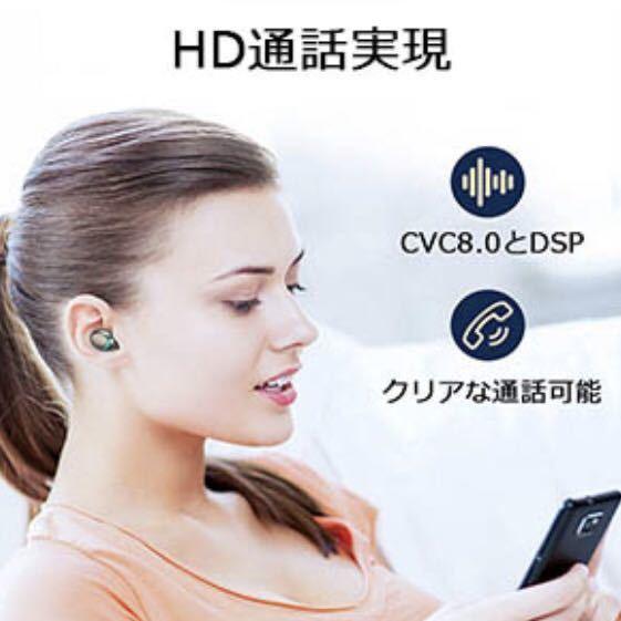 送料無料!1円~タッチ操作 Bluetoothイヤホン ワイヤレスイヤホン Bluetooth5.1 Hi-Fi高音質 ペアリング自動 IPX7防水 iPhone Android_画像6