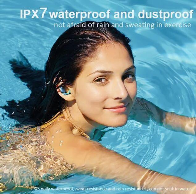 送料無料!1円~タッチ操作 Bluetoothイヤホン ワイヤレスイヤホン Bluetooth5.1 Hi-Fi高音質 ペアリング自動 IPX7防水 iPhone Android_画像7