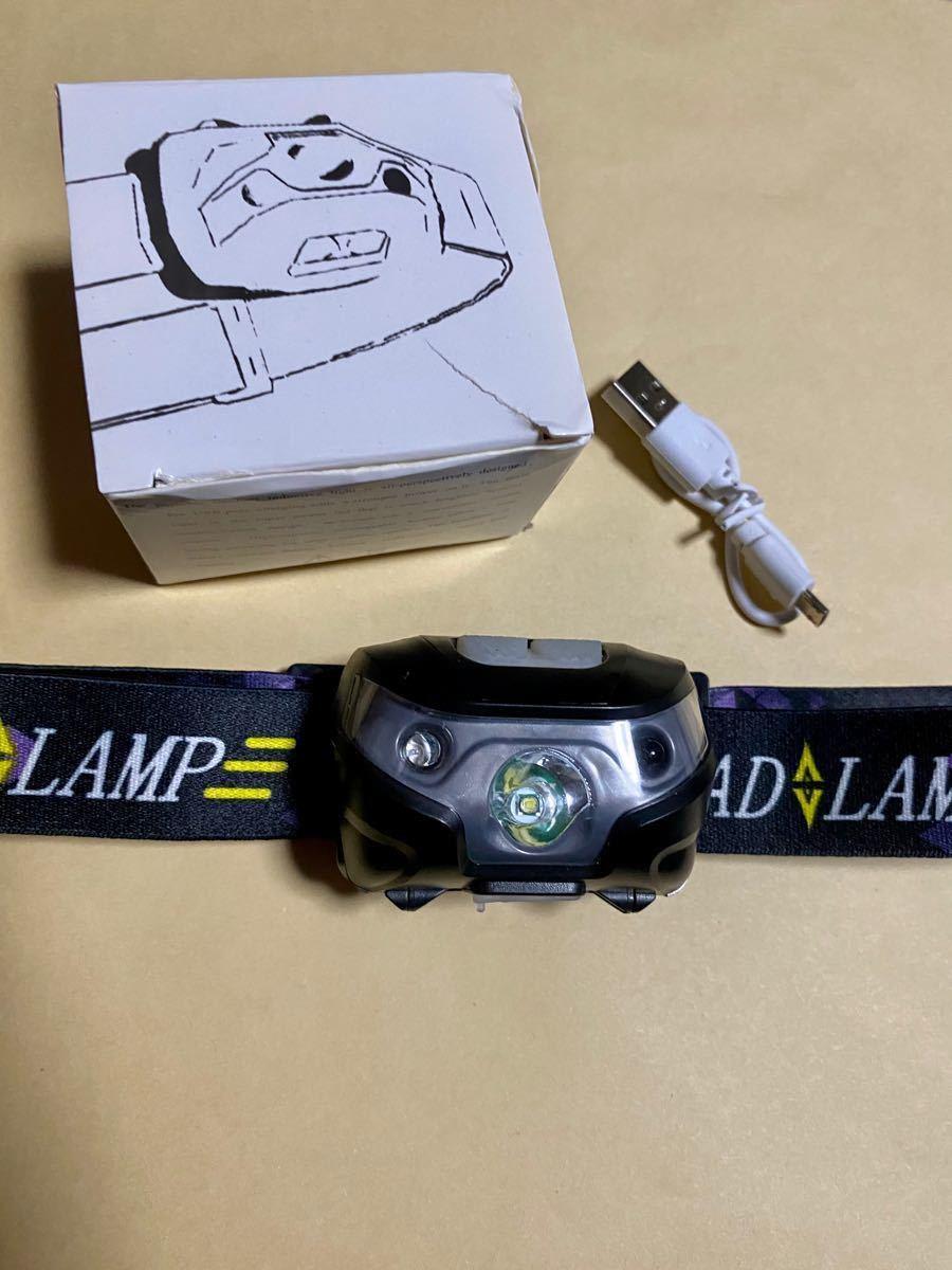 LEDヘッドライト 充電式 USB充電 軽量 ヘッドランプ LEDヘッドランプ  小型軽量 ランニング 登山 アウトドア