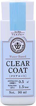 アイスブルー 90ml 和信ペイント 水性ウレタンニス ウッドアトリエ クリアコート 90ml 800705 木部をコーティン_画像1