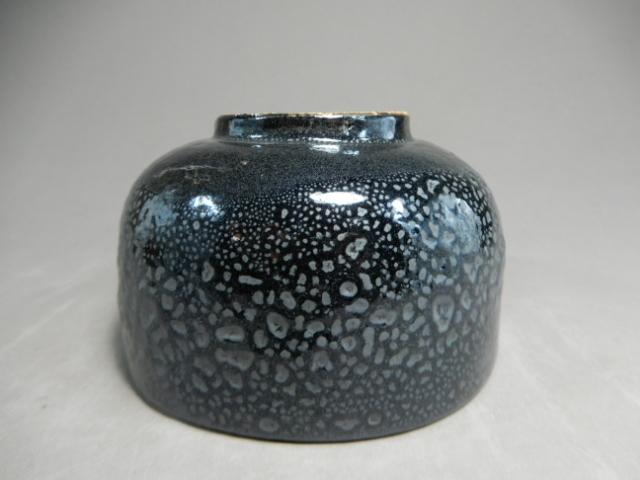 河本昌山(昌彦) 造 油滴天目茶碗 栞付き 布付き 共箱付き 茶道具 N-3_画像9