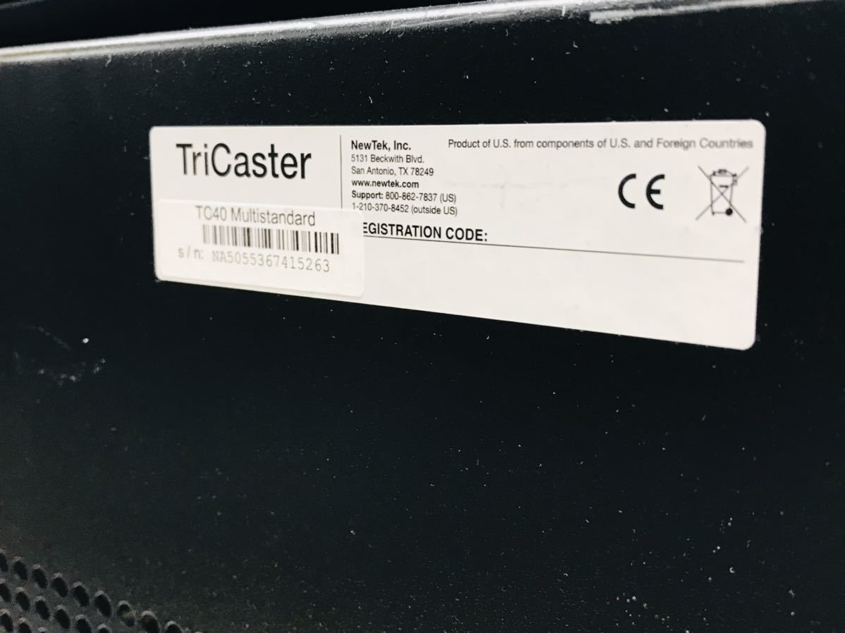 現状品 NewTek TriCaster 40 TCXD40 トライキャスター PC映像作成 配信機_画像5