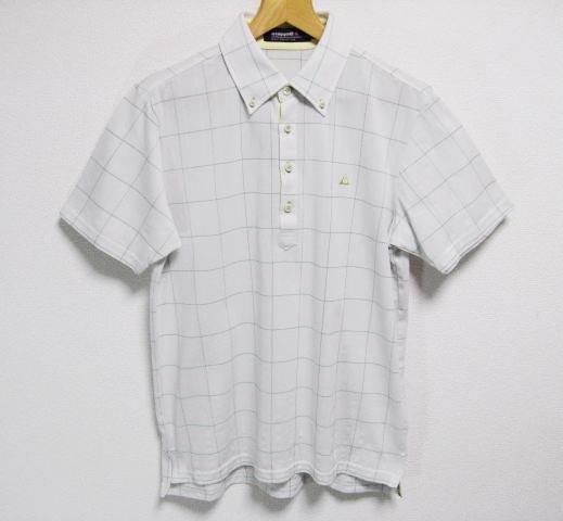 ルコックゴルフ ボタンダウン 吸汗速乾 半袖ポロシャツ Lサイズ le coq sportif GOLF COLLECTION _画像1