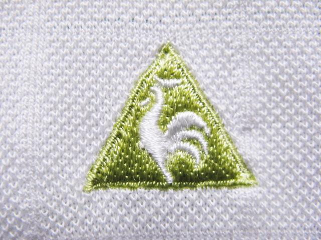 ルコックゴルフ ボタンダウン 吸汗速乾 半袖ポロシャツ Lサイズ le coq sportif GOLF COLLECTION _画像5