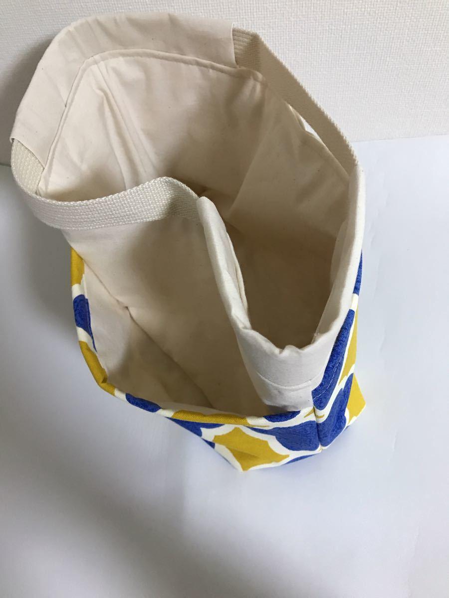 ハンドメイド バッグインバッグ 外ポケット4  北欧柄