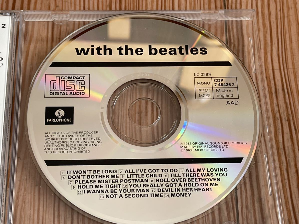 WITH THE BEATLES THE BEATLES ザ・ビートルズ ウィズ・ザ・ビートルズ 英国盤 Made in England イングランド CD ③1_画像3