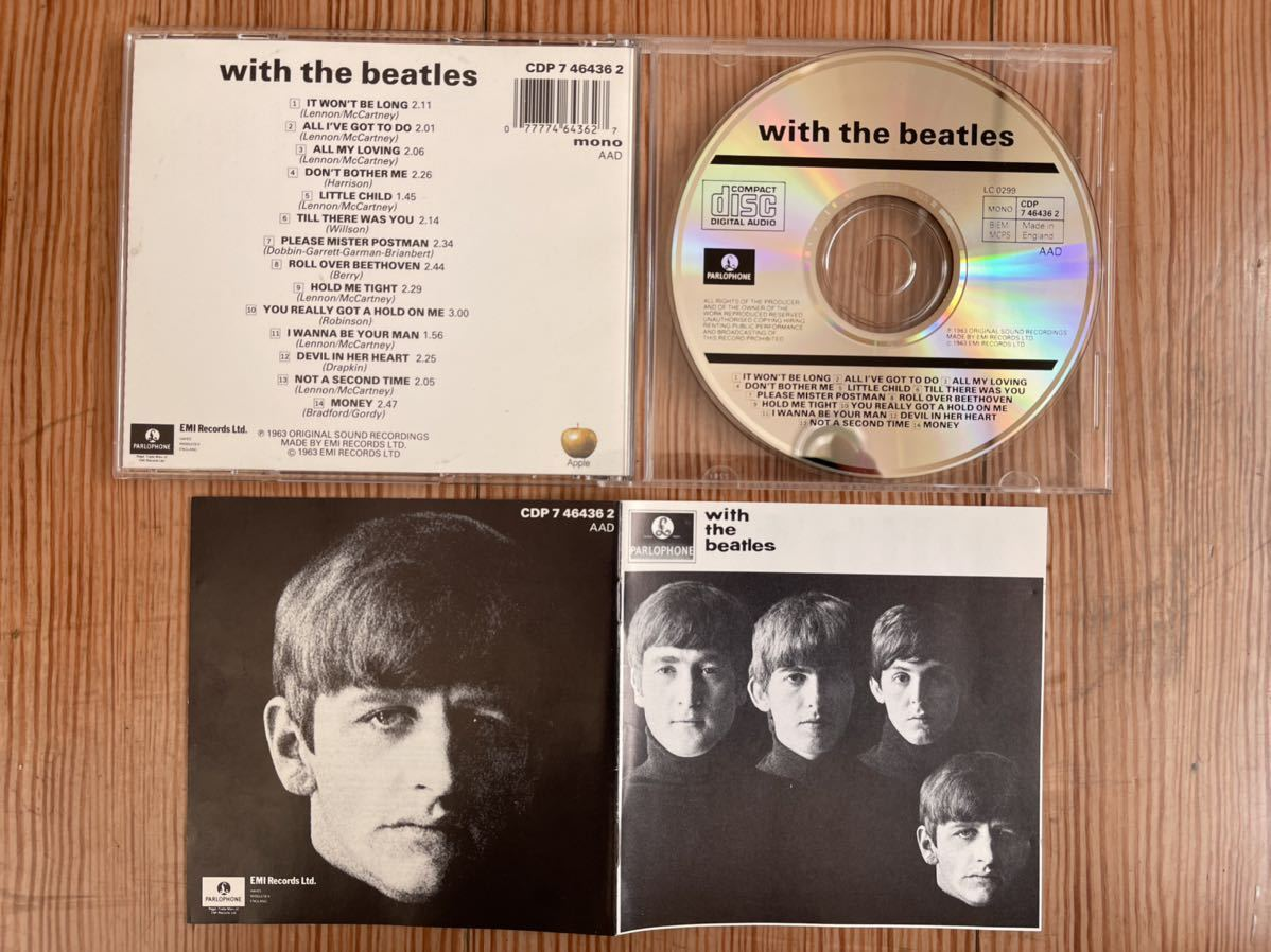 WITH THE BEATLES THE BEATLES ザ・ビートルズ ウィズ・ザ・ビートルズ 英国盤 Made in England イングランド CD ③1_画像2