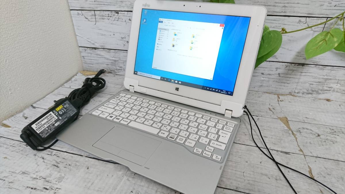 富士通 防水タブレット Arrows Tab Q584/H 10.1型QXGA(2560×1600) Atom Z3770 1.46GHz 4GB SSD64GB win10 タッチ 無線LAN カメラ 動作品