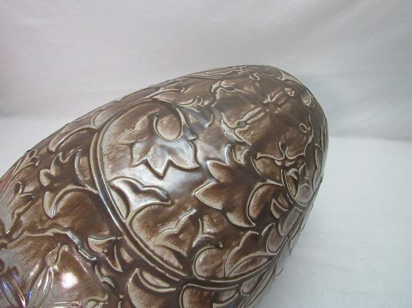 O304807【 古い 花瓶 在銘 箱無 】 検) 陶器 美品 華道具 一輪挿 花入 花活 フラワーベース 花器 花生 いけばな 床飾り 飾り壷 壺 置物ⅳ_画像7