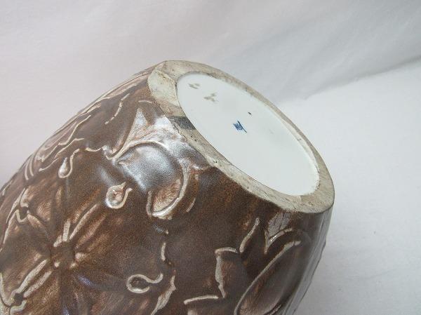 O304807【 古い 花瓶 在銘 箱無 】 検) 陶器 美品 華道具 一輪挿 花入 花活 フラワーベース 花器 花生 いけばな 床飾り 飾り壷 壺 置物ⅳ_画像10