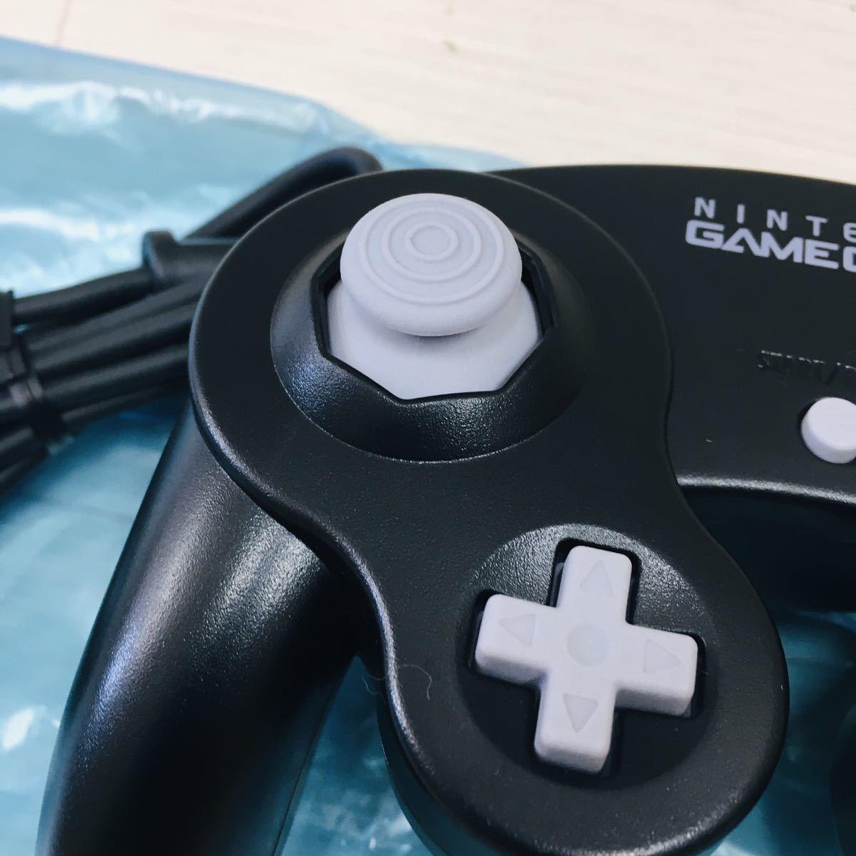 未使用品 任天堂 ゲームキューブ コントローラー ブラック GC game cube ニンテンドー NINTENDO スイッチ スマブラなどに _画像4