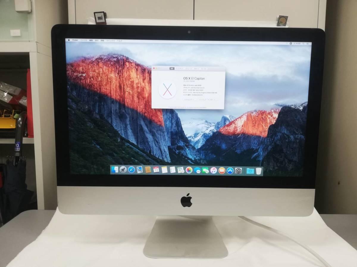 [ST705]中古 Apple iMac A1418 21.5inch Late2015 Core-i5 2.80Ghz 16GB 1TB mac OS X El Capitan 10.11.6 現状販売_画像1