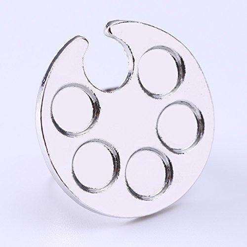 BORN PRETTY ネイルアートブラシセット ネイル筆 ジェルネイルブラシ10本 透明ブラシホルダー、丸いリングパレット付属_画像4