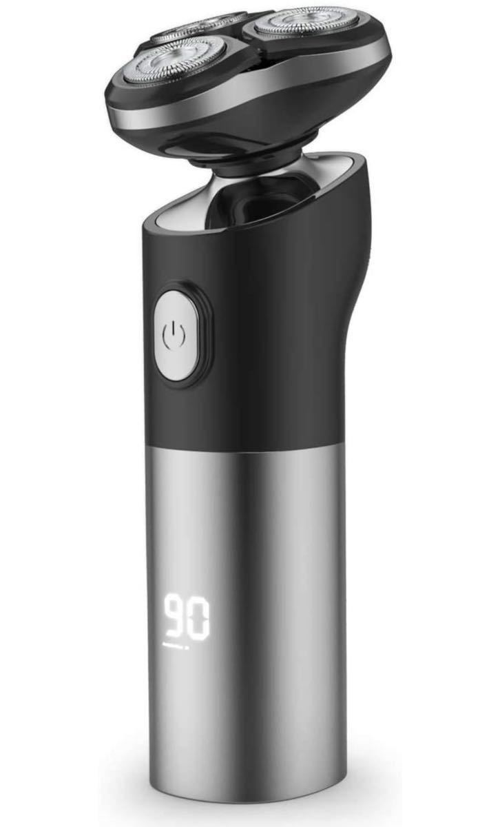 シェーバー メンズシェーバー 電気シェーバー 電動髭剃り  髭剃り 回転式 4D浮上刃 80時間連続使用 USB充電式