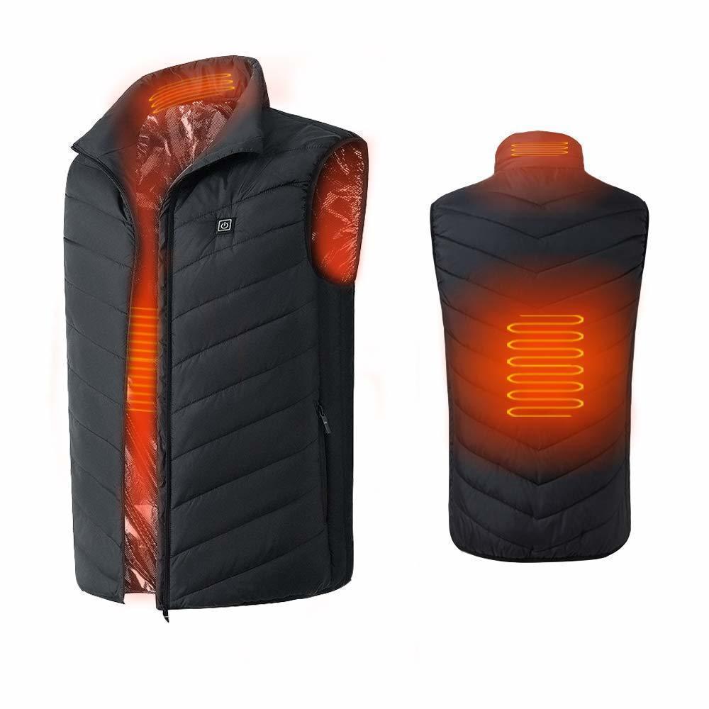 ■■ 選べるM~4XL ■■ 加熱ベスト電熱ジャケット USB加熱 3段温度調整 防寒 秋冬用 加熱服 男女兼用 水洗い可能_画像2
