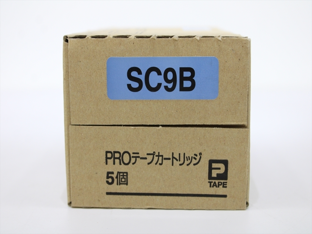 【送料無料】5箱セット×2 キングジム テプラPROテープカートリッジ SC9B 9mm幅 ラベル色⇒青/文字色⇒黒 管理NO.ST4-8497_画像5
