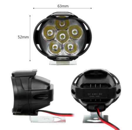 【新品】2個 オートバイ ヘッドライト 6500 18k ホワイト 超高輝度 6 led 作業 スポットライト バイク フォグランプ 1200LM led スクーター_画像6