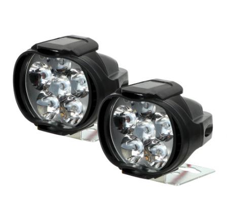 【新品】2個 オートバイ ヘッドライト 6500 18k ホワイト 超高輝度 6 led 作業 スポットライト バイク フォグランプ 1200LM led スクーター_画像5