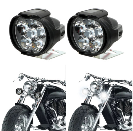 【新品】2個 オートバイ ヘッドライト 6500 18k ホワイト 超高輝度 6 led 作業 スポットライト バイク フォグランプ 1200LM led スクーター_画像4
