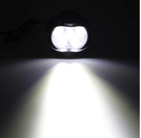 【新品】2個 オートバイ ヘッドライト 6500 18k ホワイト 超高輝度 6 led 作業 スポットライト バイク フォグランプ 1200LM led スクーター_画像3