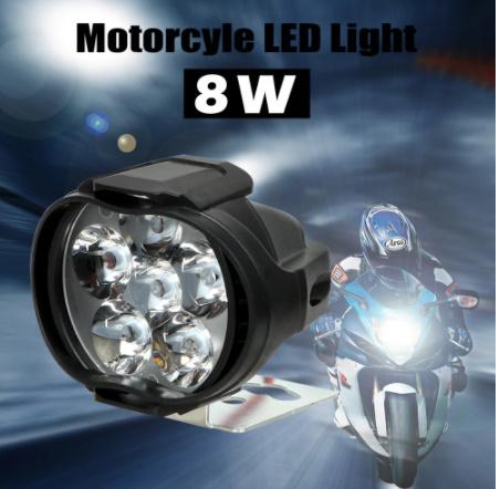 【新品】2個 オートバイ ヘッドライト 6500 18k ホワイト 超高輝度 6 led 作業 スポットライト バイク フォグランプ 1200LM led スクーター_画像2