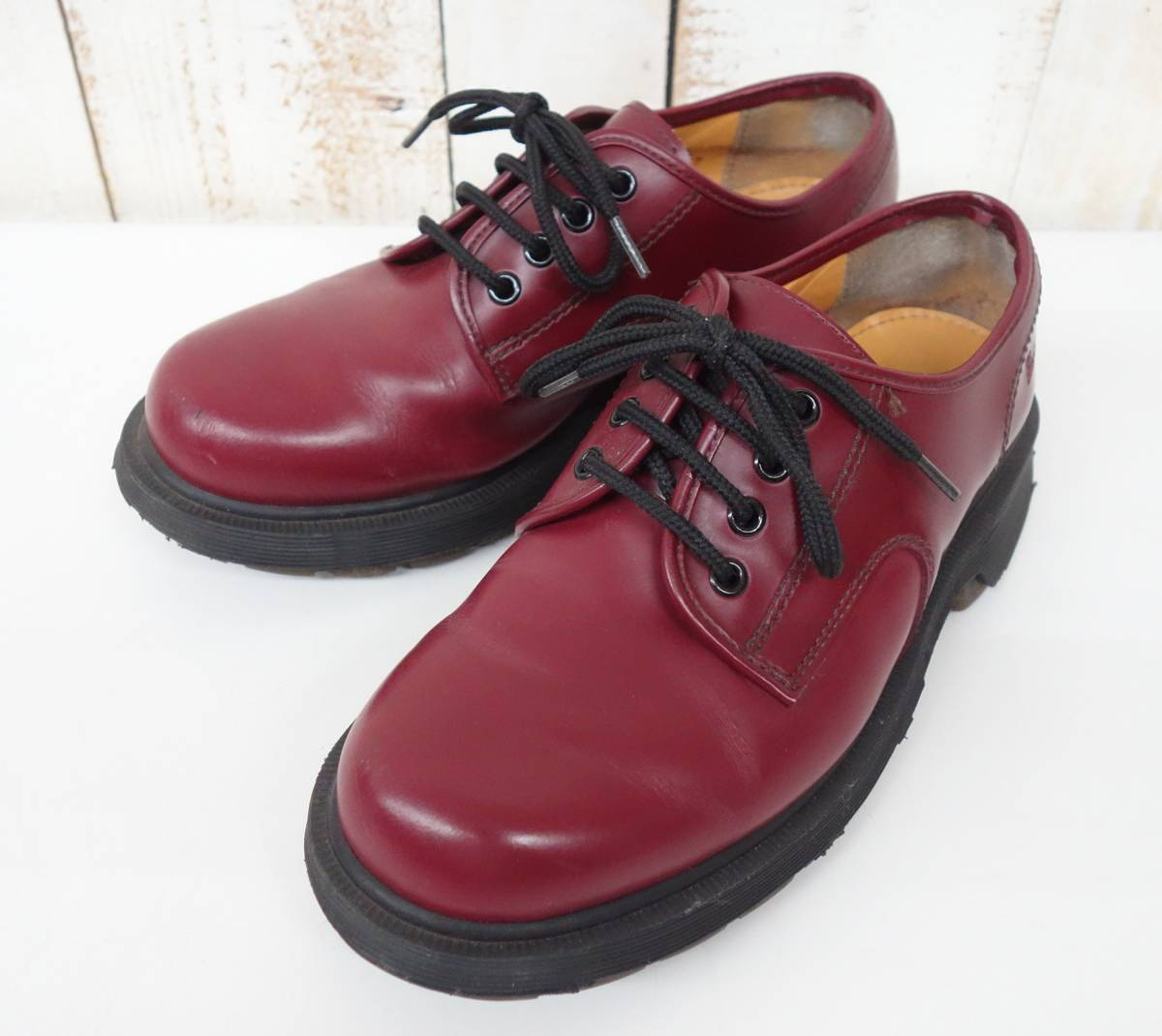 RETRO COLLECTION レア*The Original *Dr Martens ドクターマーチン*3ホールシューズ*COL.OXBLOOD*MADE IN ENGLAND 英国製* SIZE7