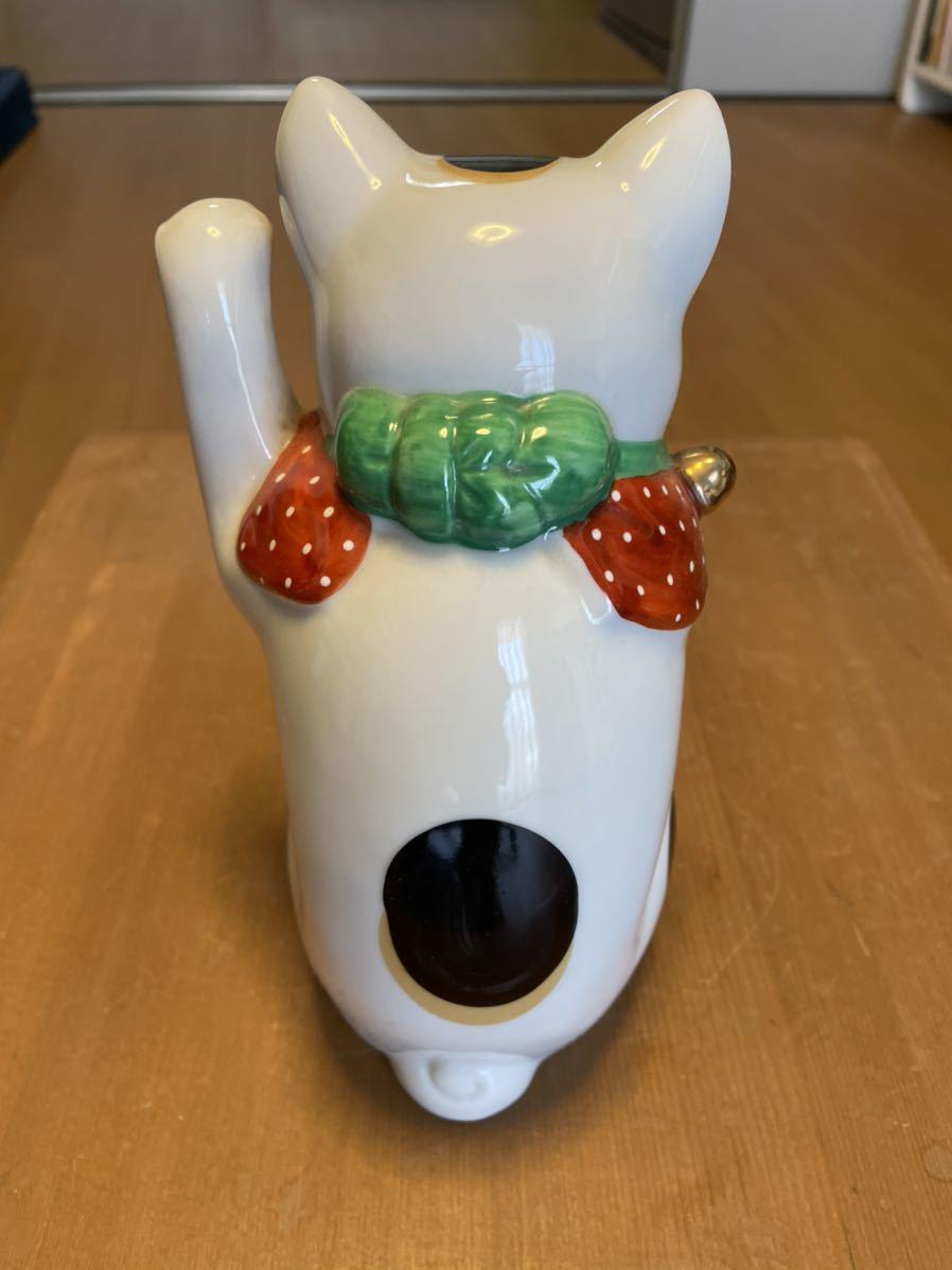 招き猫 陶器人形 _画像4