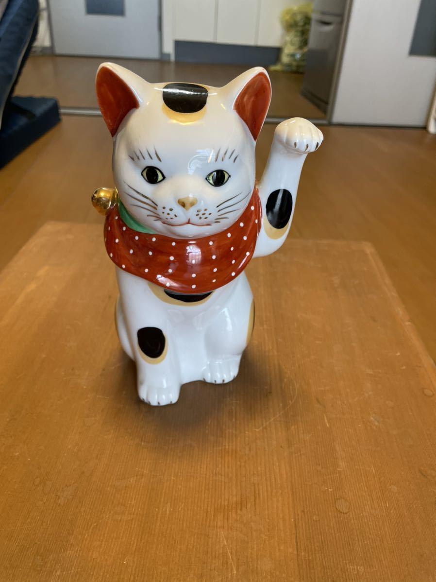 招き猫 陶器人形 _画像1