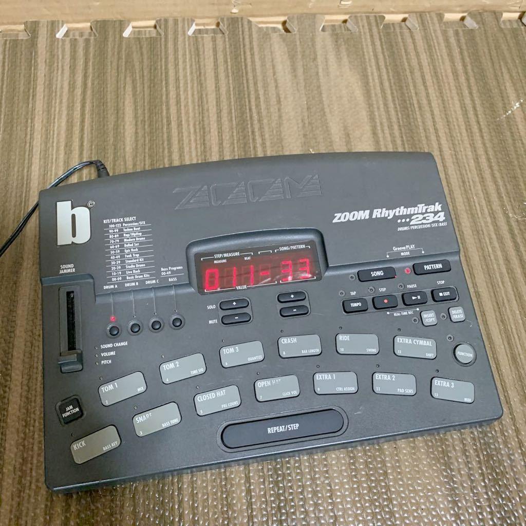 (あ-712)★☆Zoom RhythmTrak 234 ズーム ドラムマシン 通電のみ確認 中古現状品_画像1