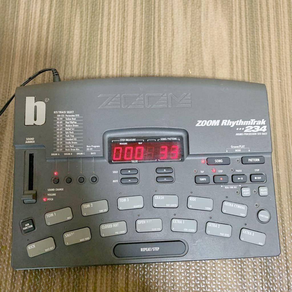 (あ-712)★☆Zoom RhythmTrak 234 ズーム ドラムマシン 通電のみ確認 中古現状品_画像2