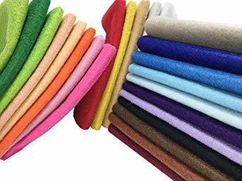 44枚 20cm x 20cm 24枚 20cm x 20cm 不織布 羊毛フェルト 1.4mm厚 柔らかいタイプ DIY クラ_画像5