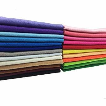 44枚 20cm x 20cm 24枚 20cm x 20cm 不織布 羊毛フェルト 1.4mm厚 柔らかいタイプ DIY クラ_画像2