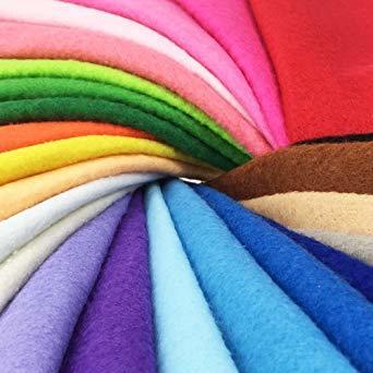 44枚 20cm x 20cm 24枚 20cm x 20cm 不織布 羊毛フェルト 1.4mm厚 柔らかいタイプ DIY クラ_画像3
