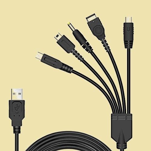 未使用 新品 5 BEADY I-KU in 1 USB 充電ケ-ブル ニンテンド- New 3DS(XL/LL), 3DS(XL/LL), 2DS, DSi(XL/LL), GBA SP, Wii U, PSP_画像1