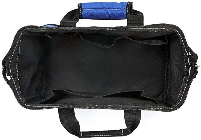ツールバッグ 工具差し入れ 道具袋 工具バッグ 大口収納 600Dオックスフォード ワイドオープン 幅33cm_画像4