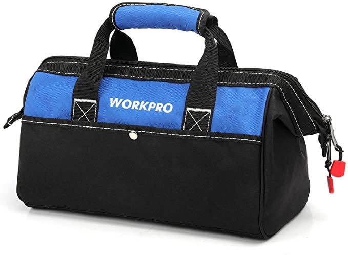 ツールバッグ 工具差し入れ 道具袋 工具バッグ 大口収納 600Dオックスフォード ワイドオープン 幅33cm_画像1