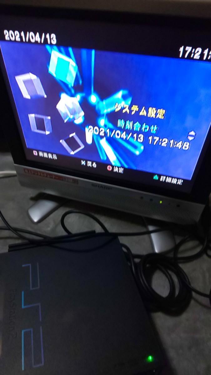 ≪本日のみ破格≫PlayStation2 SCPH37000 限定ゼンブラック 清掃動作確認済み ジャンク扱い PS2
