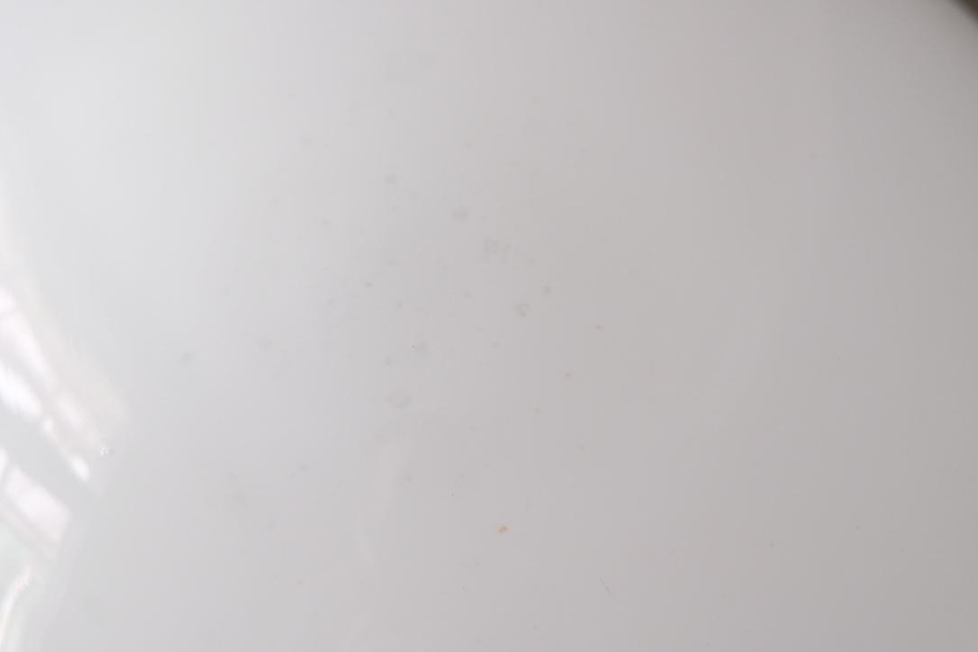 01127 特大 乳白ガラス笠の吊り下げ照明 / ペンダントライト ランプ 灯り 古道具 古家具 大正ロマン 昭和レトロ 洋館 アンティーク_画像6
