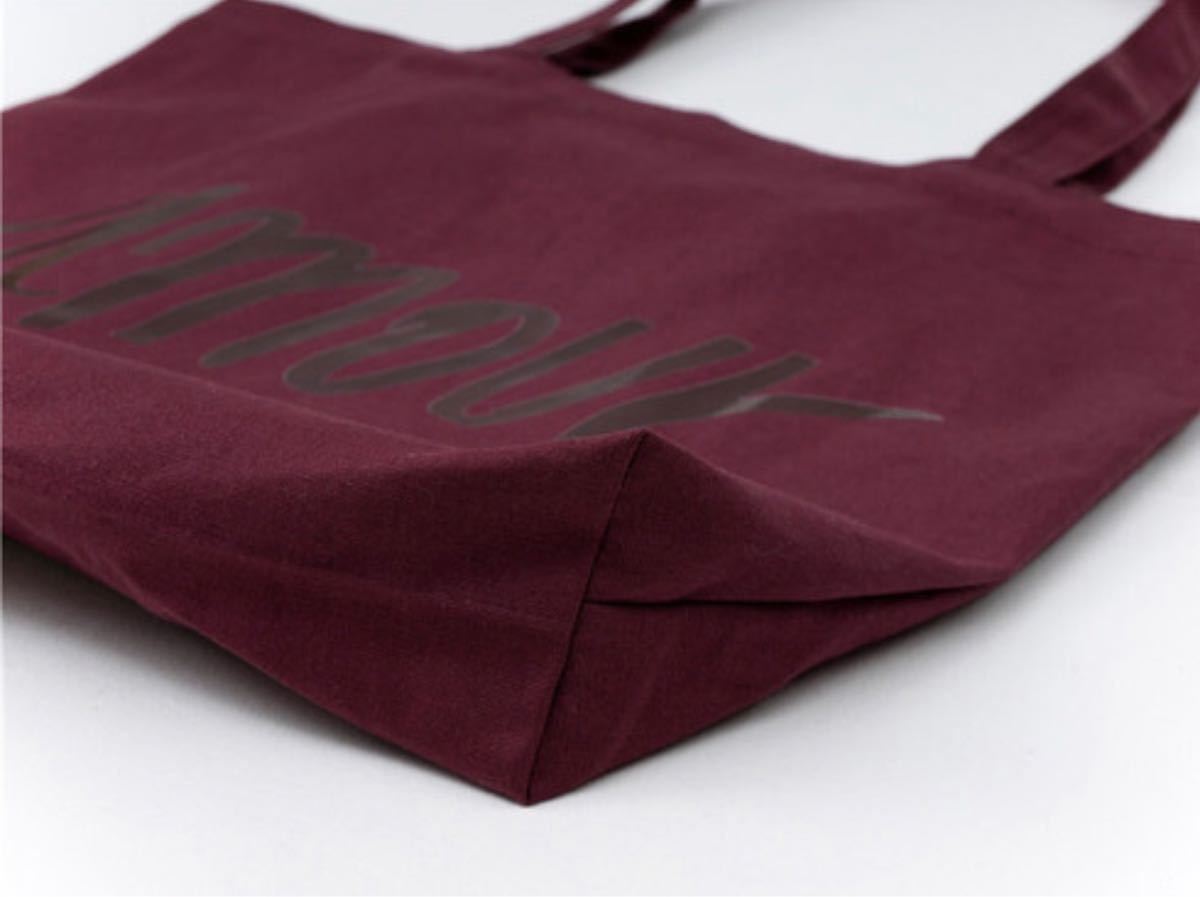 トートバッグ キャンバストート パープル バッグ 帆布 内ポケット A4 新品 韓国 エコバッグ