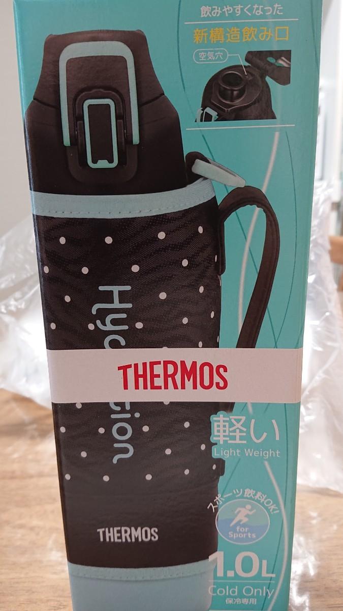 THERMOS サーモス 真空断熱スポーツボトル ドットブラック1.0L FHT-1000Fケータイ マグ 水筒
