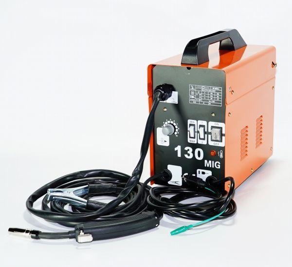 最新!半自動溶接機 MIG130 単相100V仕様 オレンジ!お手軽に鉄・ステンを溶接!ロングトーチケーブ仕様l