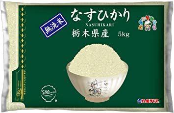 5kg 無洗米 580.com 栃木県産 なすひかり 【精米】[Amazon限定ブランド] 5kg 令和元年産_画像1