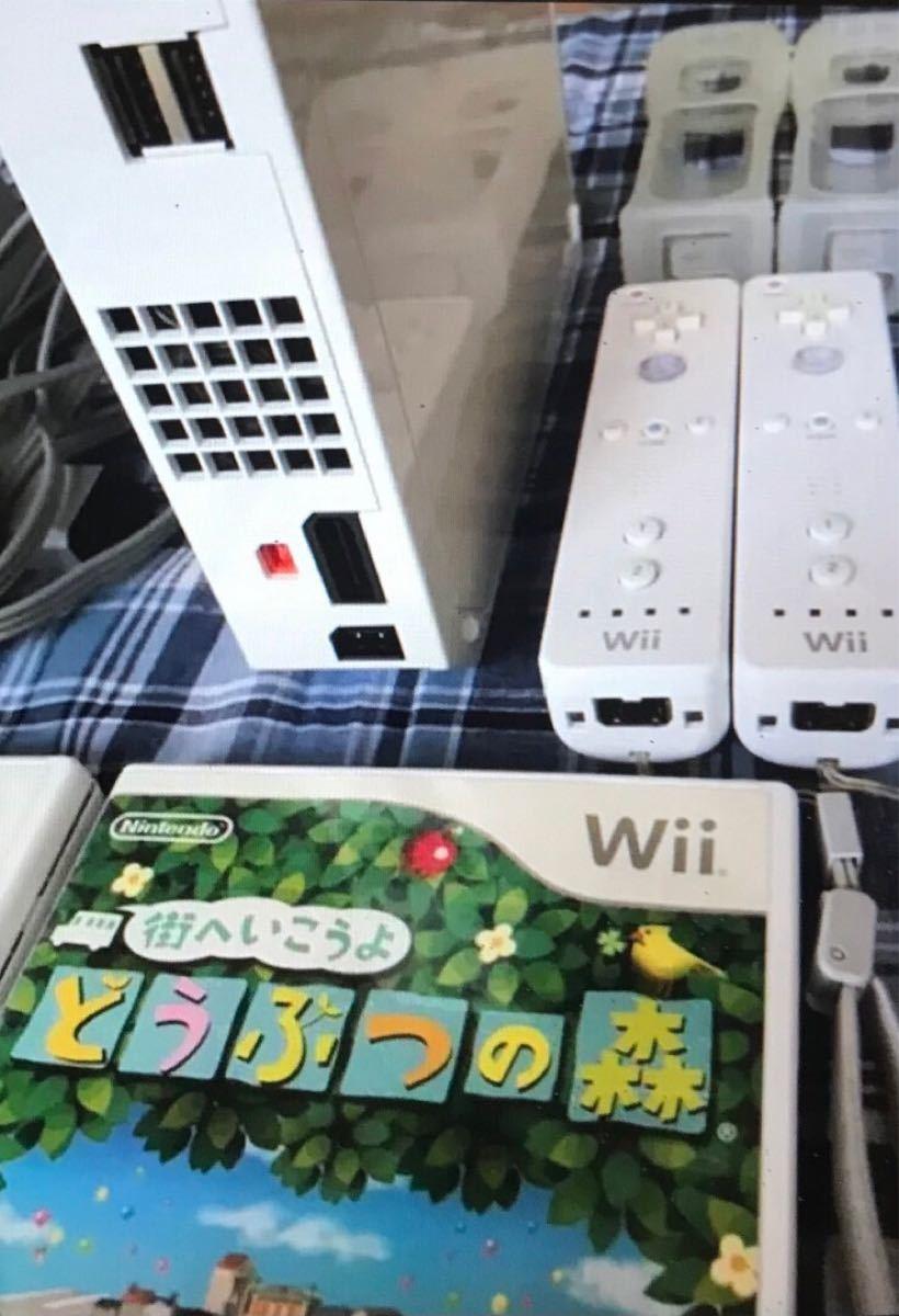 任天堂 Wii 本体 どうぶつの森他ソフト リモコン追加 美品 完動品
