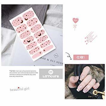 指-ステッカー-C ネイルステッカー LATTCURE 12枚セット 極薄ネイルシール ネイルアート ネイルデコ ネイル用装飾 _画像2