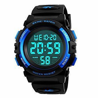 新品低価格・1-ブルー 子供腕時計 男の子 デジタル腕時計 ボーイズスポーツウォッチ アウトドア多機能50m防水 アラート 日付_画像1